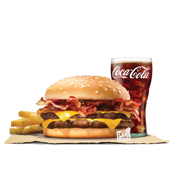 DOUBLE BBQ BACON CHEESE VALUE MEAL (PORK)