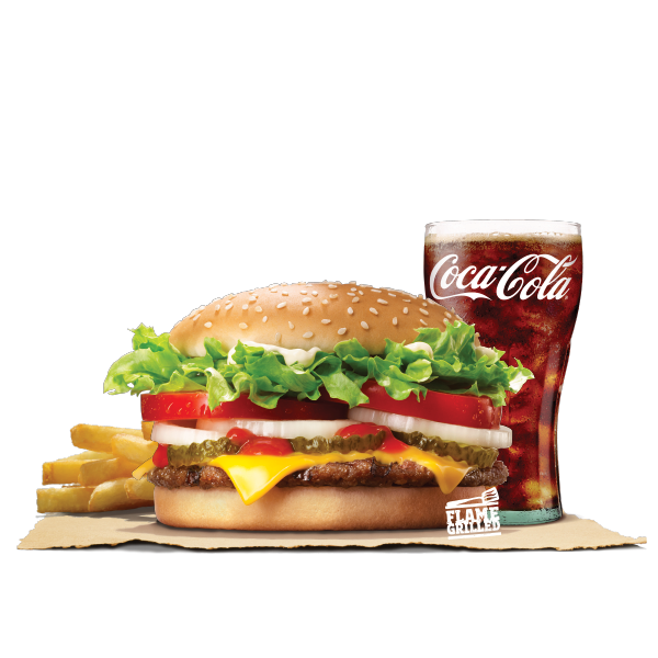 WHOPPER CHEESE VALUE MEAL (BEEF)