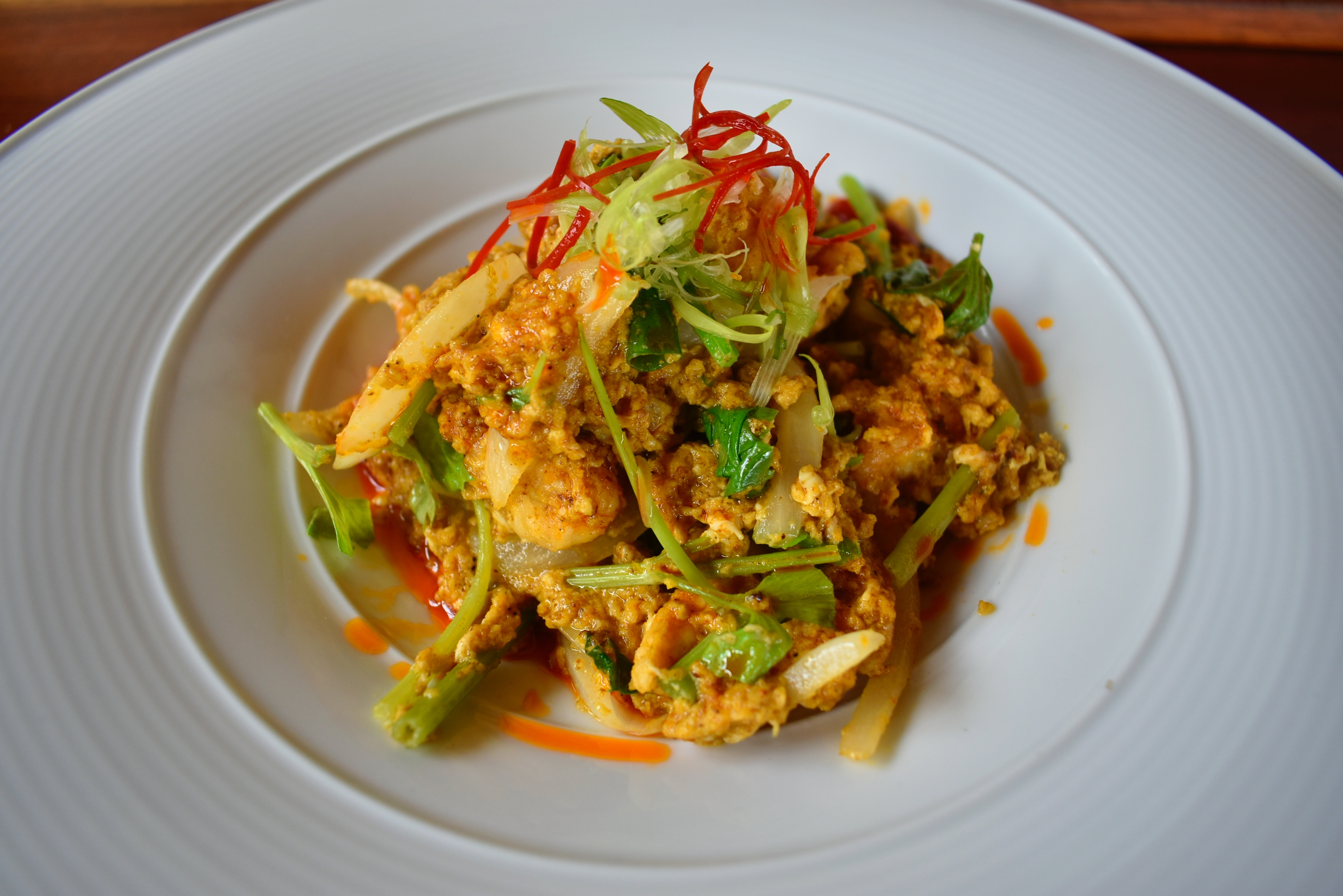 Wok fried yellow curry