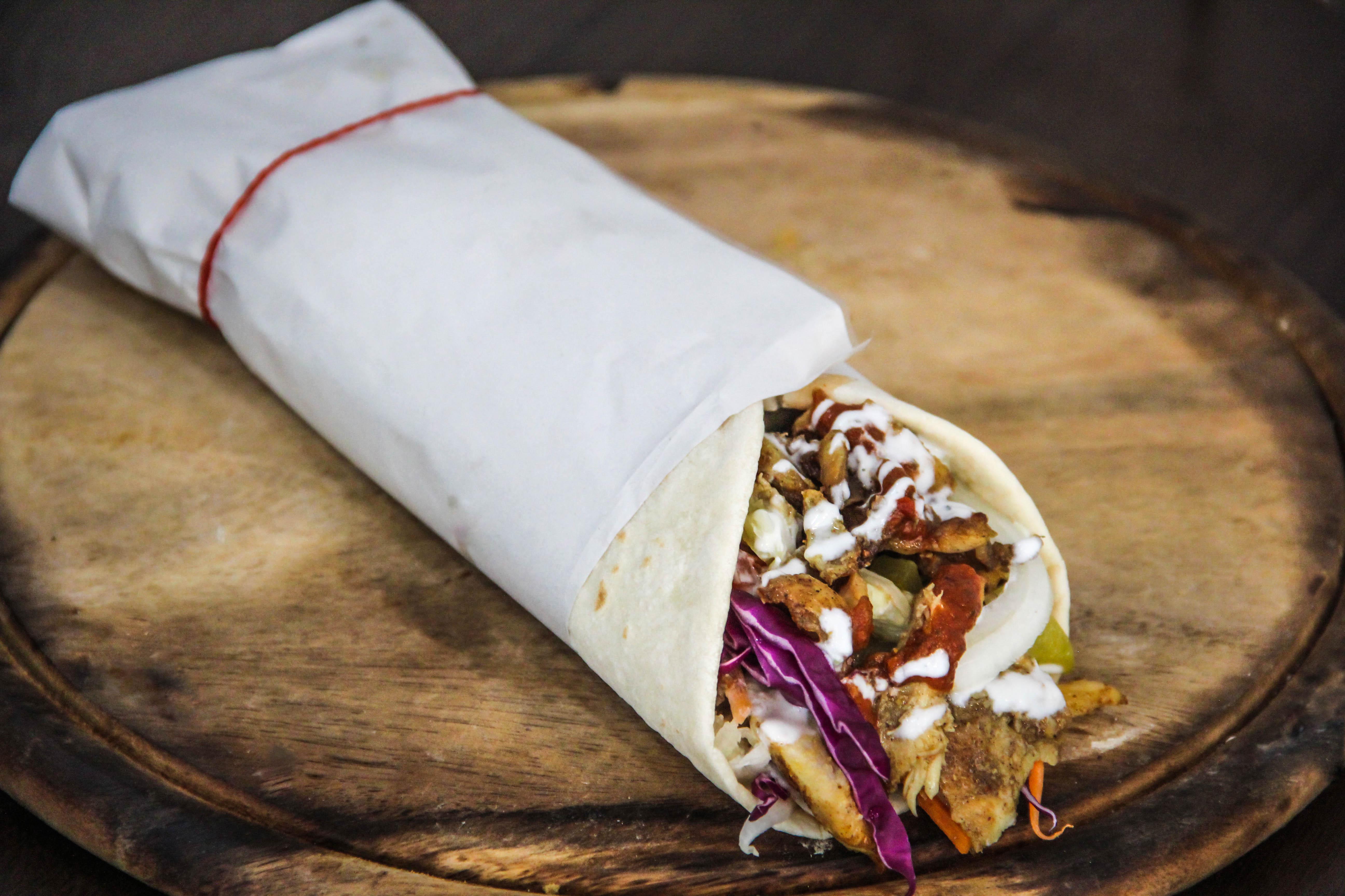 chicken kebab in wrap Xl (shawarma)