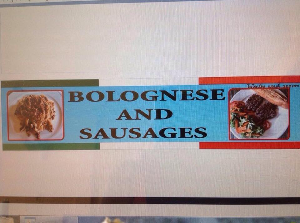 bolognese & sausages