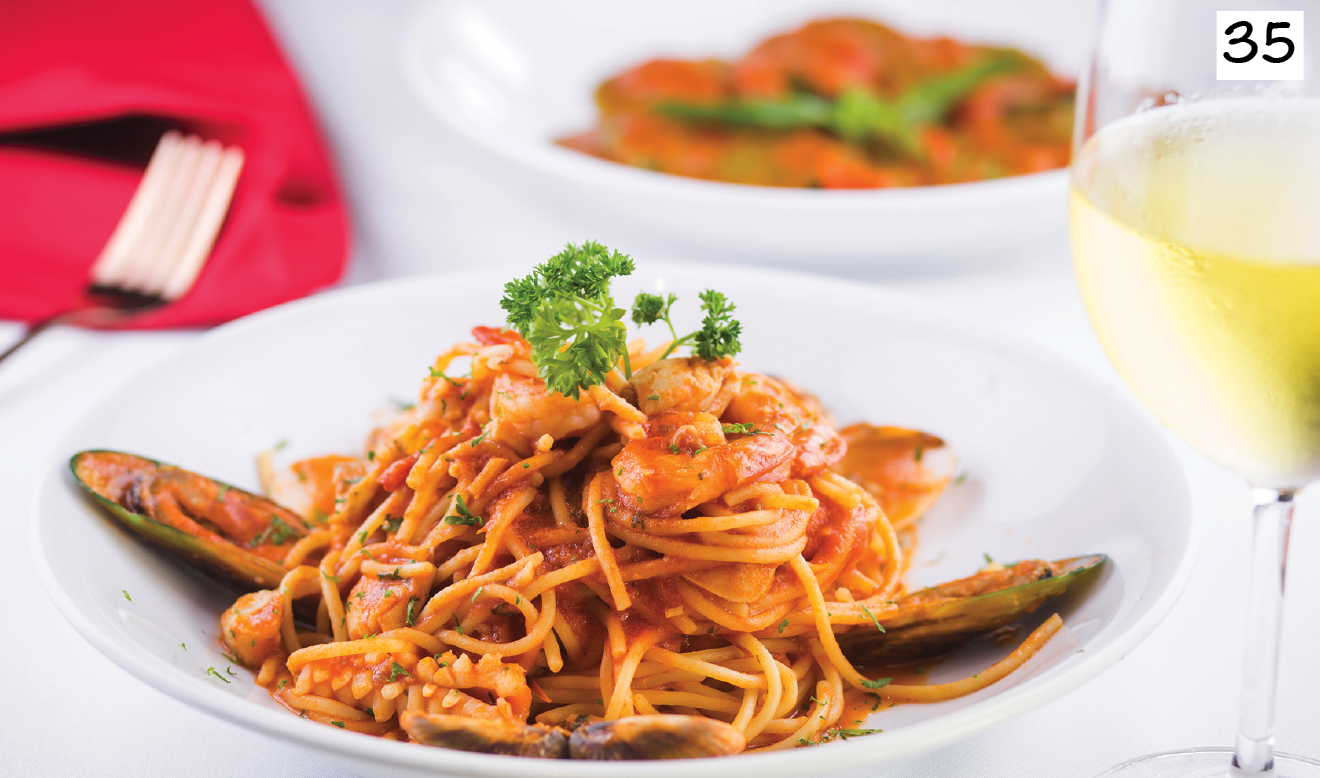 Seafood in tomato sauce