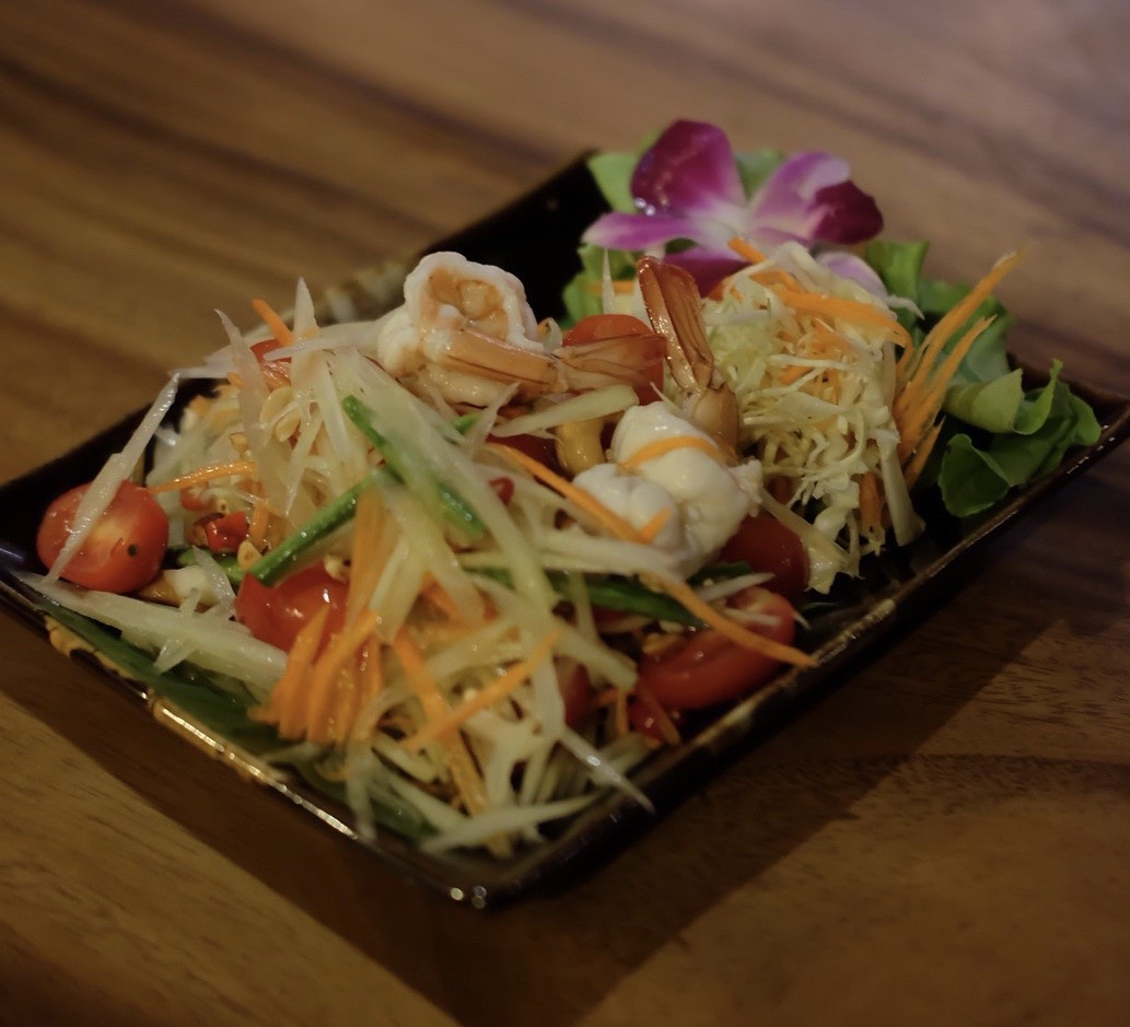 Papaya Salad with shrimps