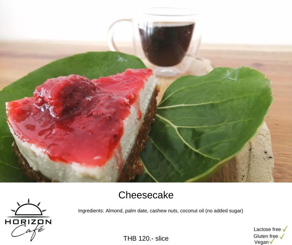 Vegan strawberry cheese cake