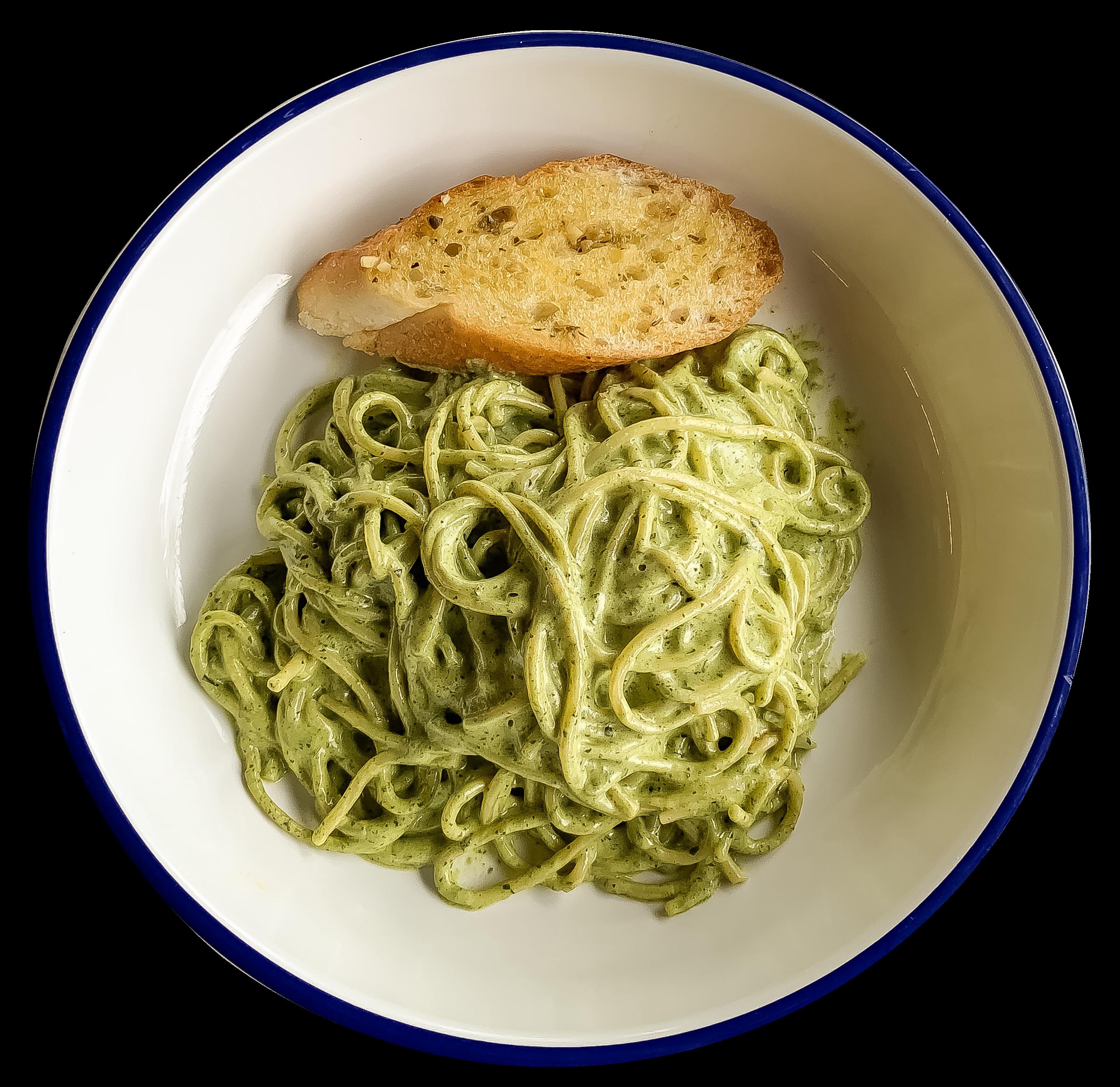 Spaghetti Cream Pesto