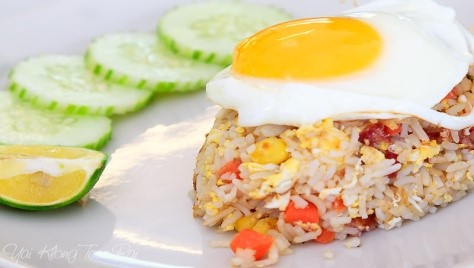 FRIED RICE WITH FRIED EGG (CHICKEN/PORK/SHRIMP)