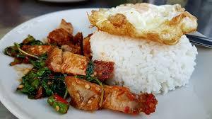 Stir-Fried Crispy Pork  with Basil Leaves