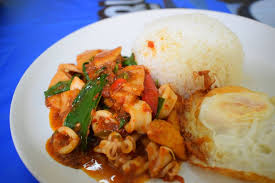 Stir-Fried Seafood with Red Curry