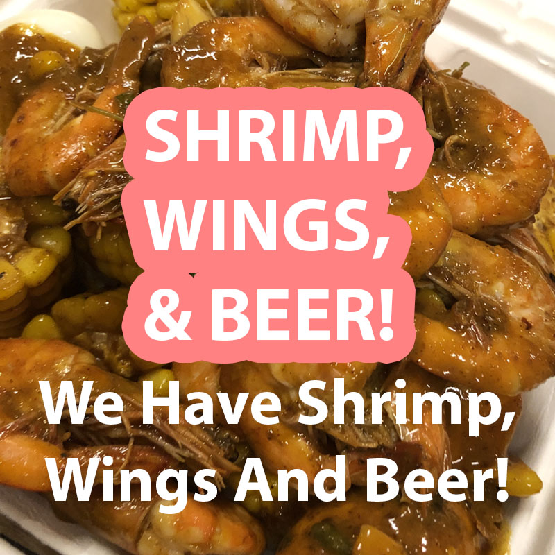 Shrimp Wing and Beer