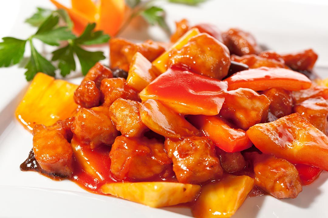 Fried Sweet Sour Chicken or Pork