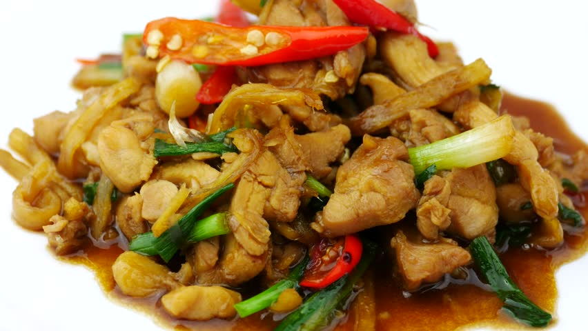Fried Ginger with Chicken or Pork