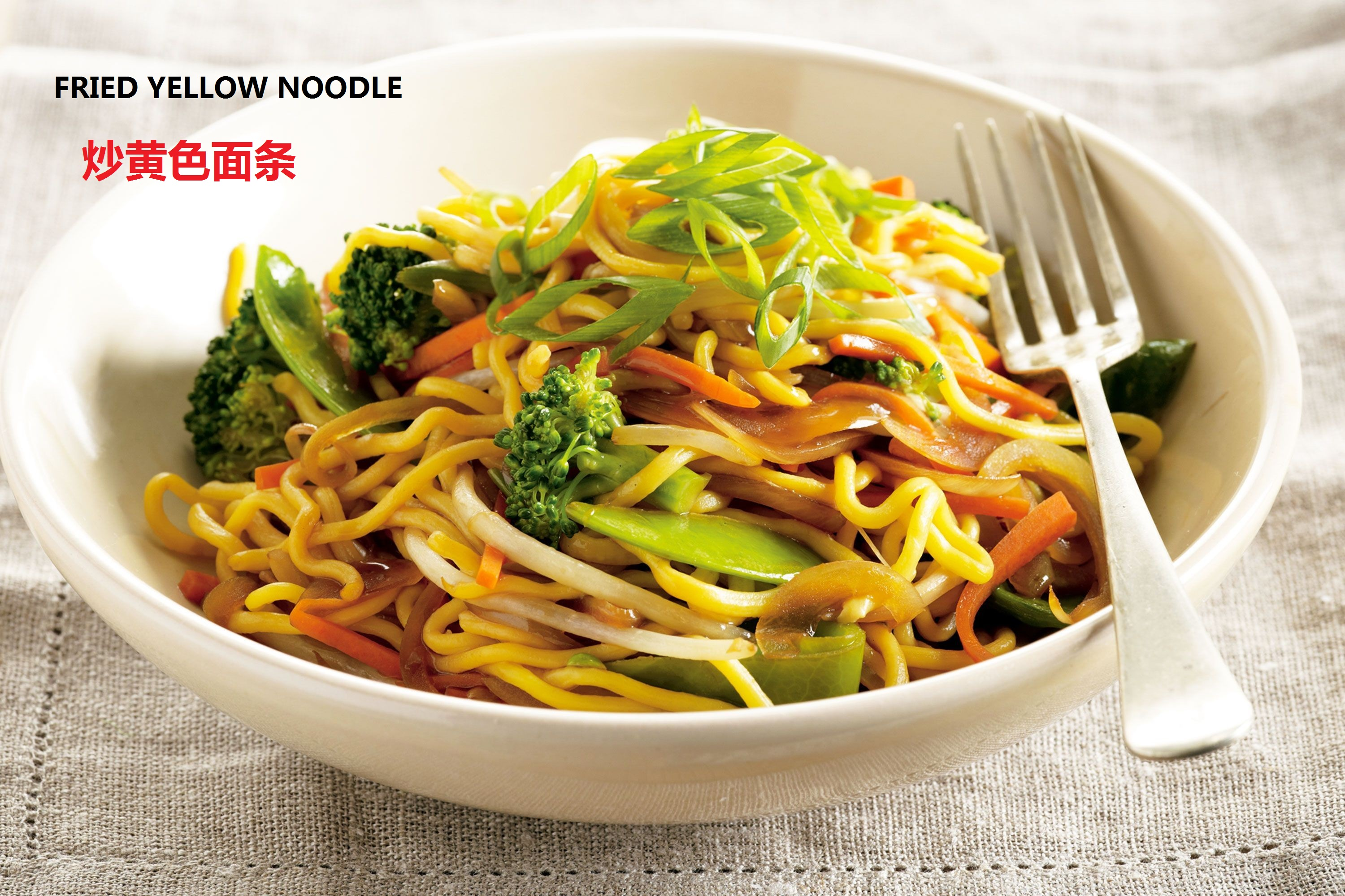 Yellow Noodle Chicken or Pork