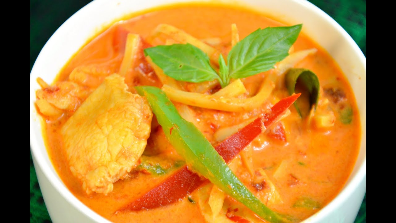Red Curry Pineapple with Chicken or Pork