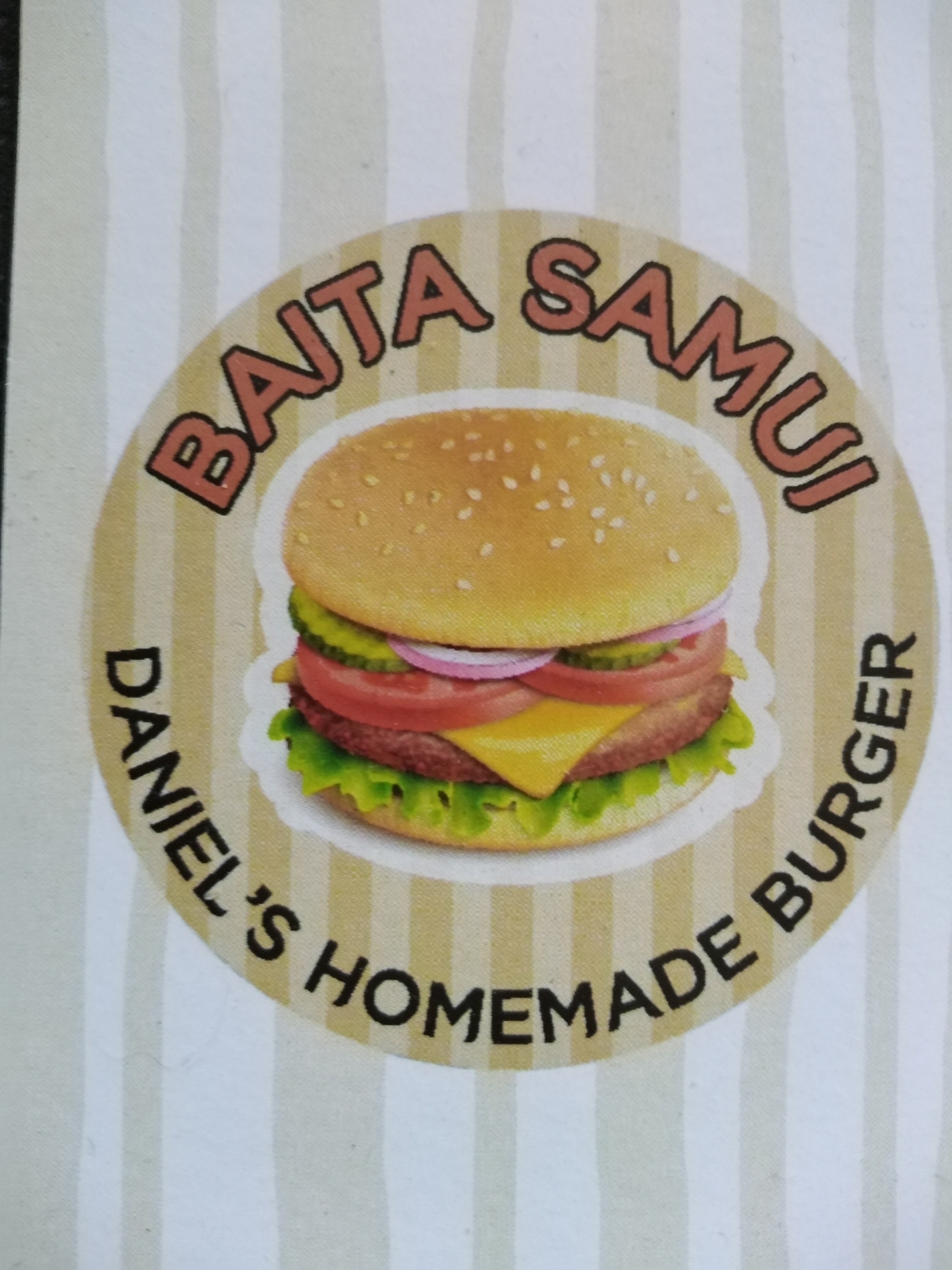 Baita-Samui Daniel's homemade burger