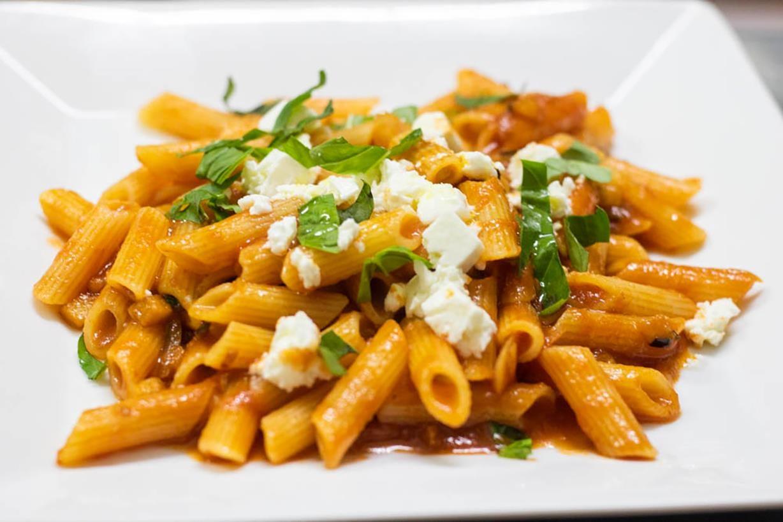 Fettuccine Feta and Veggies