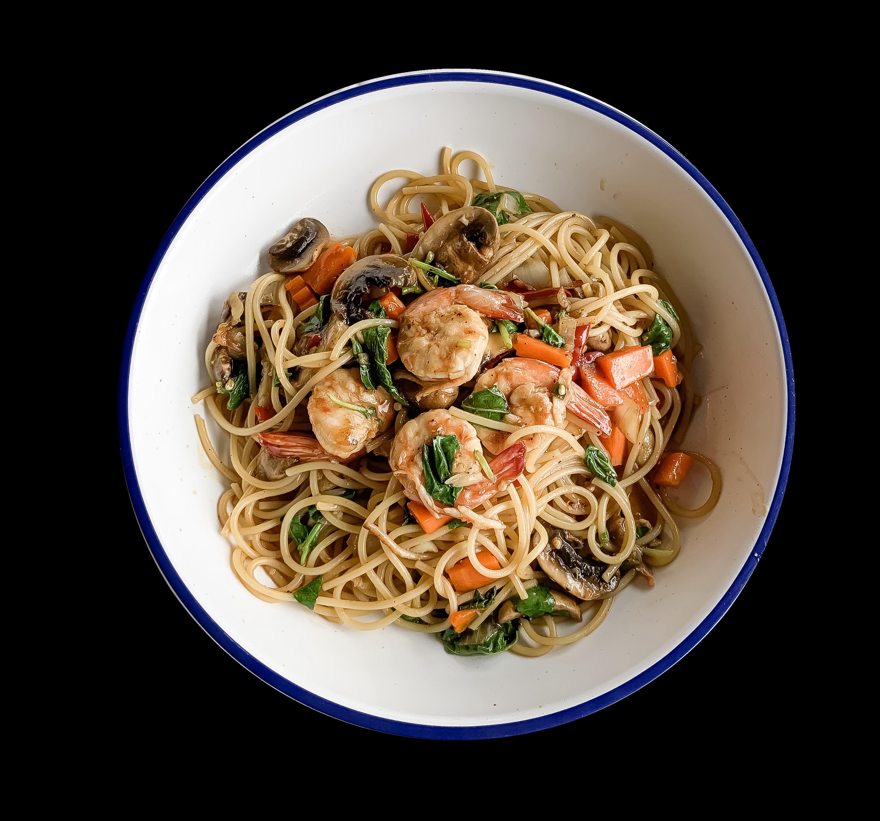 Spaghetti Khee Mao Chicken or Shrimp (Spicy)