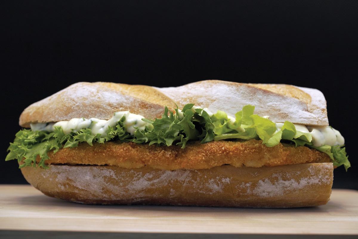 Pork schnitzel bread