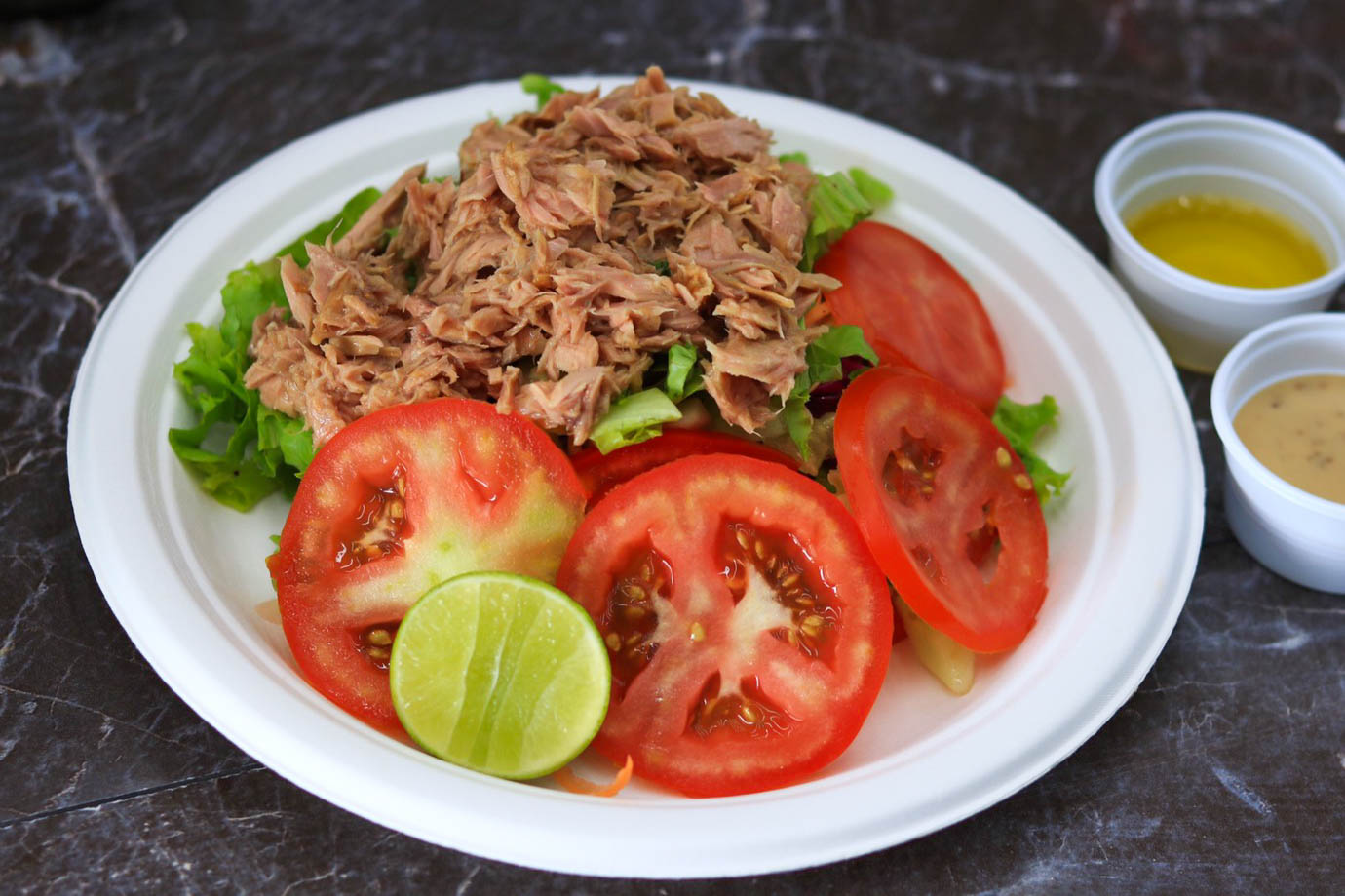 Tuna Salad Plate with french fries or rice