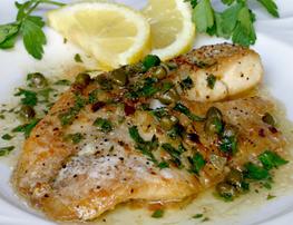 Grilled Fish Fillets Caper Sauce