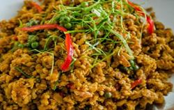 Stir-fried Roasted Pork, Chicken or Beef