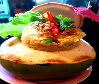 Fried rice in Coconut