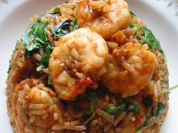 Pad Kra Pao Shrimp Fried Rice