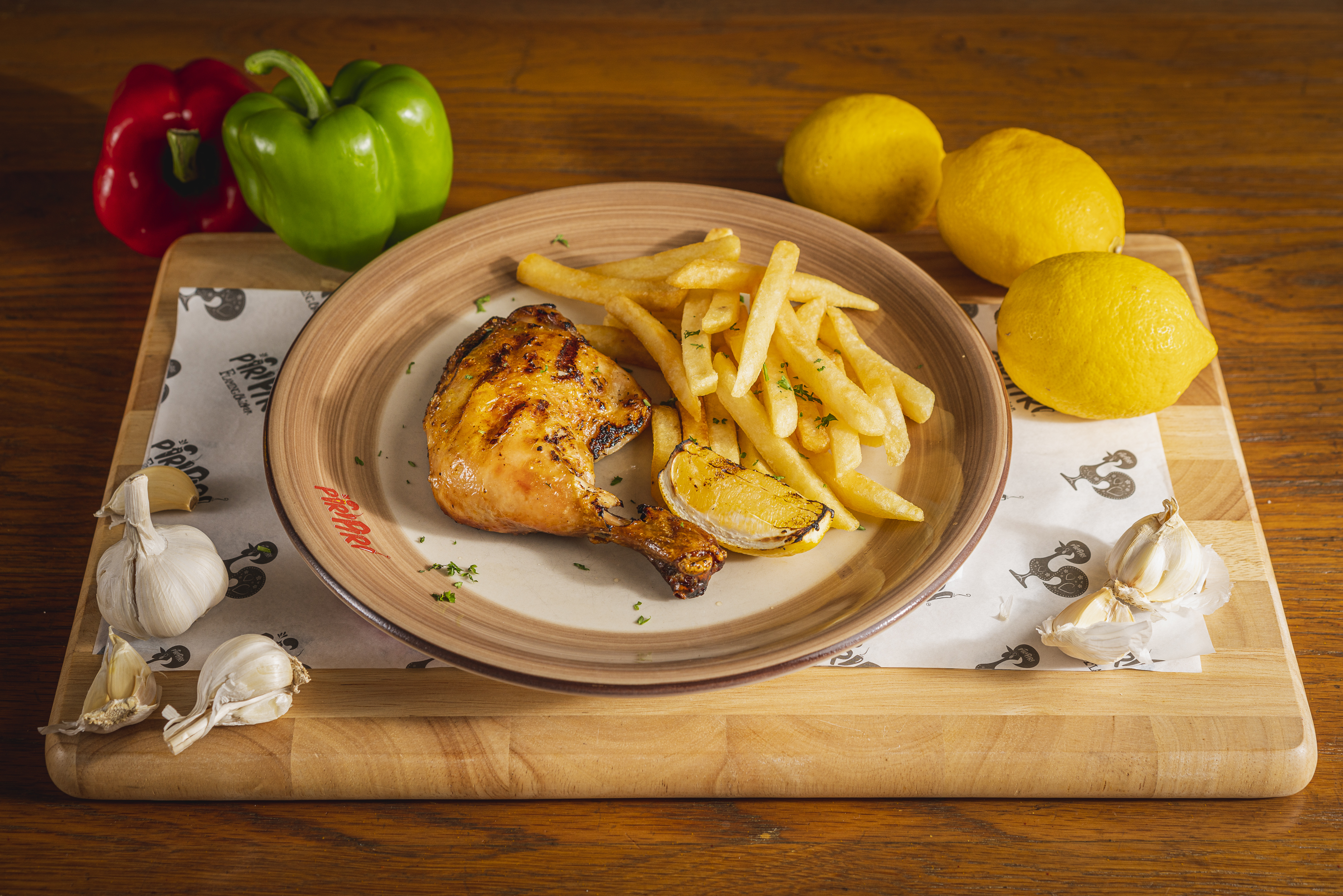 Quarter chicken with French fries