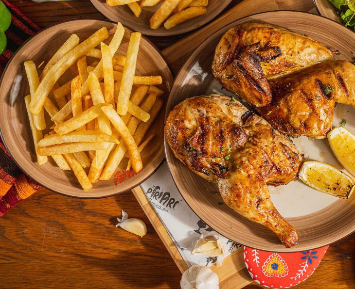 Whole Chicken with french fries